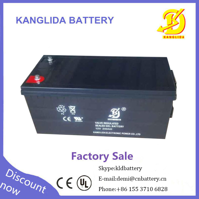 same capacity as lithium lipo 12v voltage 12v200ah sealed lead acid battery