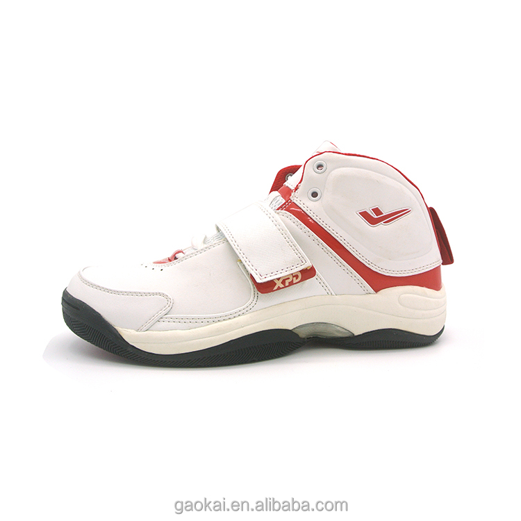 China supplier stock white safety basketball sport shoes men with phylon upper