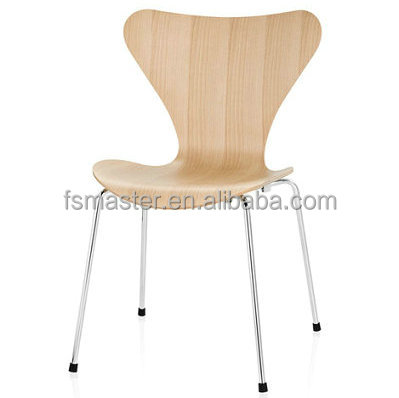 Low MOQ modern fashion colorful plywood Arne Jacobsen dining seven <strong>chair</strong>