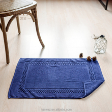 Wholesale High Great Soft Quick Dry 100% Cotton Anti Slip Bath Rug Mat With Custom Logo