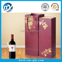 Custom design individual cardboard red wine box