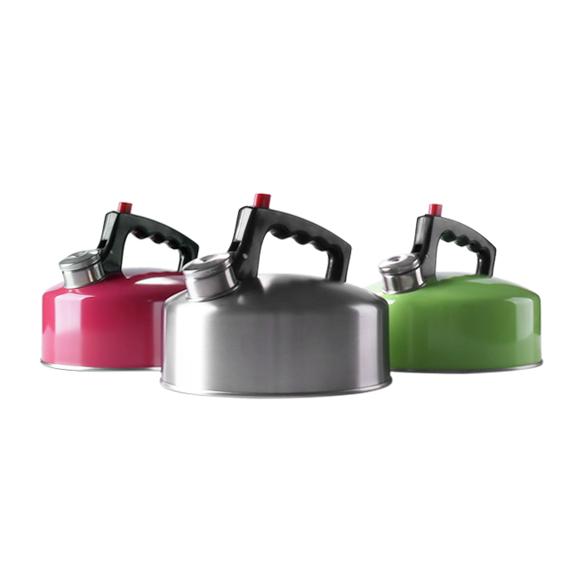 2.0L red paint stainless steel whistling tea kettle