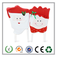 Mr and Mrs Santa Claus Christmas Chair Cover for Home Decoration