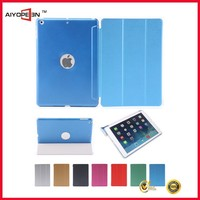New Slim Utra thin PU case for iPad Smart case cover Stand for APPLE iPad 5 iPad Air back cover
