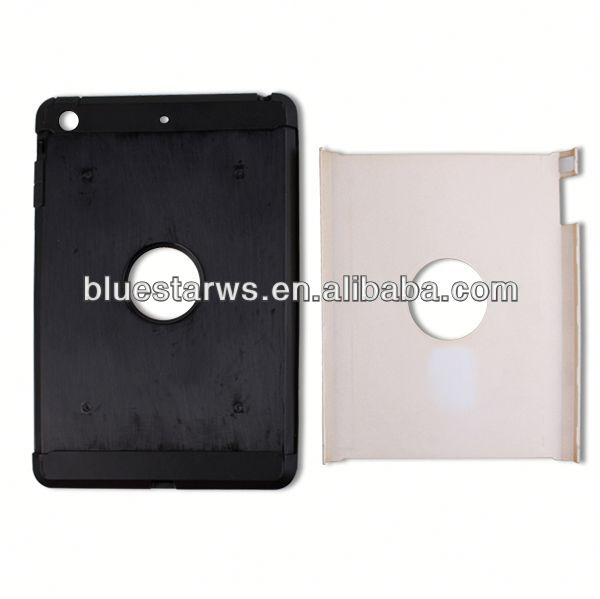 Factory Supply Popular fashion case for ipad mini matte matt case for ipad mini tpu pc combo case