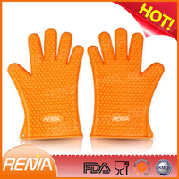 RENJIA silicone finger tips gloves kitchen heat glove and pad silicone kitchen mitt