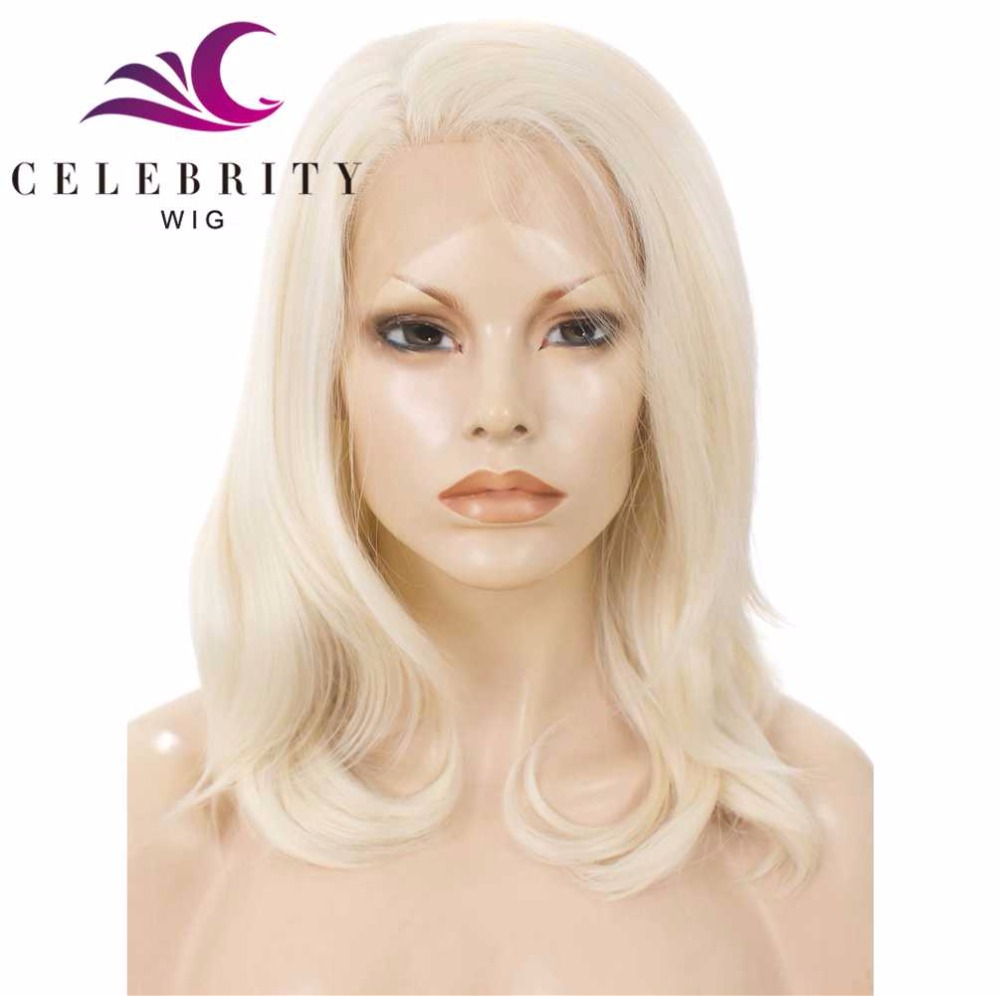 Long bob cosplay sexi women platinum blonde synthetic lace front wigs wholesale heat resistant drag queen wig for black women