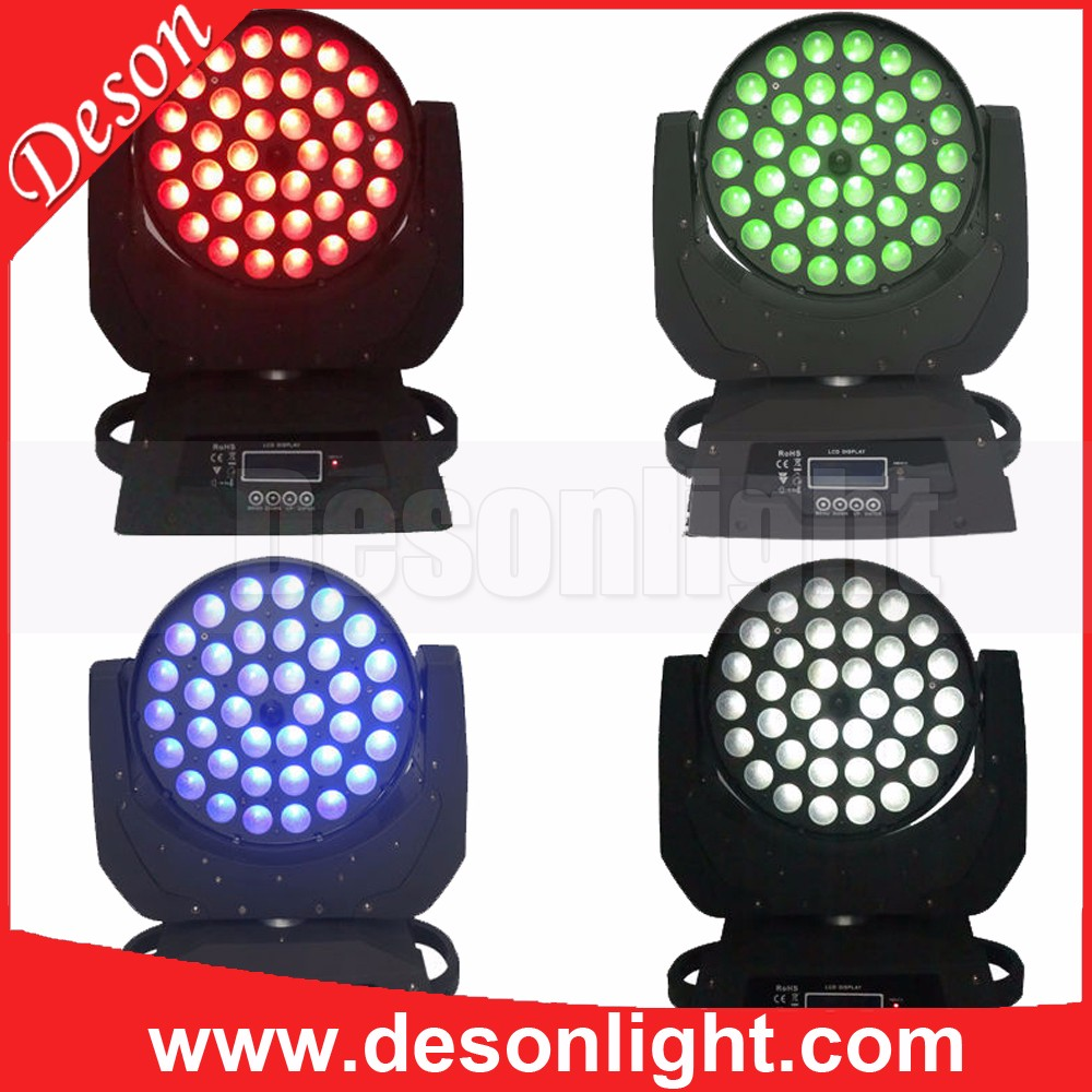 Unique 2017 36pcs 10Watts 4-in-1 zoom wash led moving head lighting