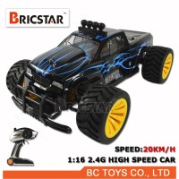 1:16 2.4G high-speed car rc truggy 4wd brushless for speed 20km/h with LED lights.