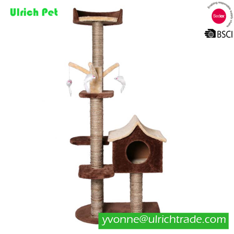WK082 Pet Products Fashionable Simple Design Scratching Cat wood Tree