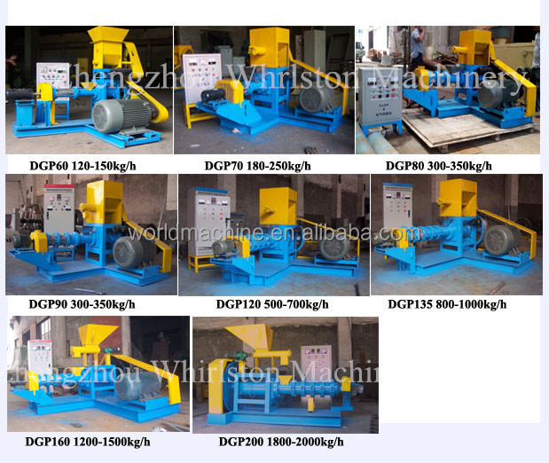 High performance floating/sinking fish food processing machine for sale