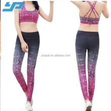 Sexy Yoga top and pants Women Sports Wear Ladies Breathable Yoga Set