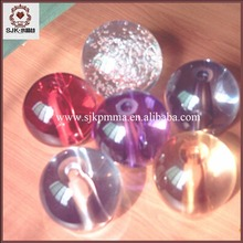 Dia.50mm Christmas Glass Ball Colorful Bubble Acrylic Ball With Hole