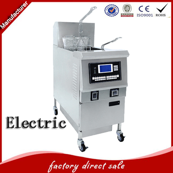 Commercial deep fryer with double automatical lifting baskets for fast food restaurant