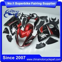 FFKSU013 Motorcycle Bodywork Fairing Kit For GSXR 1300 Hayabusa 2008-2014 Black And Red