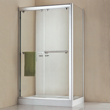 Modern house clear tempered glass square design shower enclosure room for bathroom
