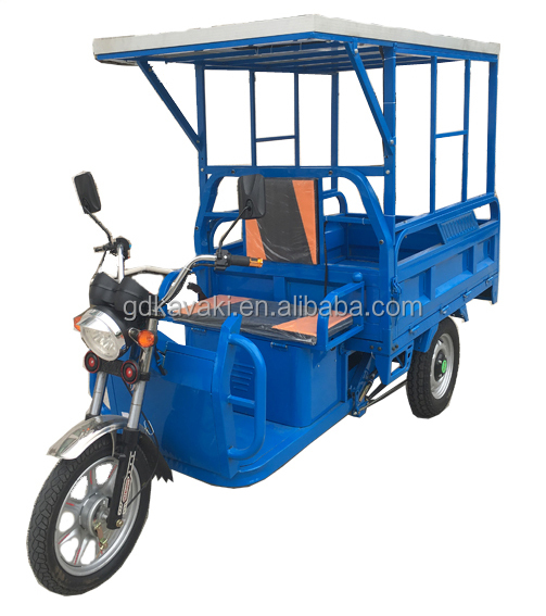 solar panel electric Rechargeable Cargo Tricycle With Cabin Fashionable Design/Electric Trike Price/Auto Rickshaw China