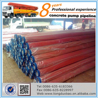 3m DN125 Welded concrete steel pipes for trailer concrete pump