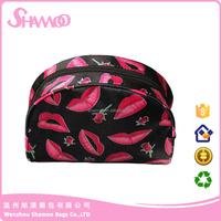 Waterproof satin fashion cosmetic bag , funny makeup cosmetic bag ,purse