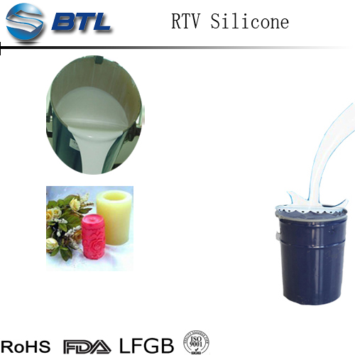 RTV 2 clear molding silicone rubber long life time rtv liquid silicone for candle mold making