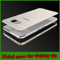 Case metal aluminum protective mobible phone case cover for samsung galaxy s6 new products case