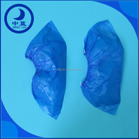 Food Industry Disposable Blue Polyethylene Film Shoe Covers