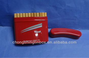 curved-shape cigarette tin box