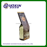 Custom Printed Laminated Coffee Bag Side Gusset Coffee Bag With Valve