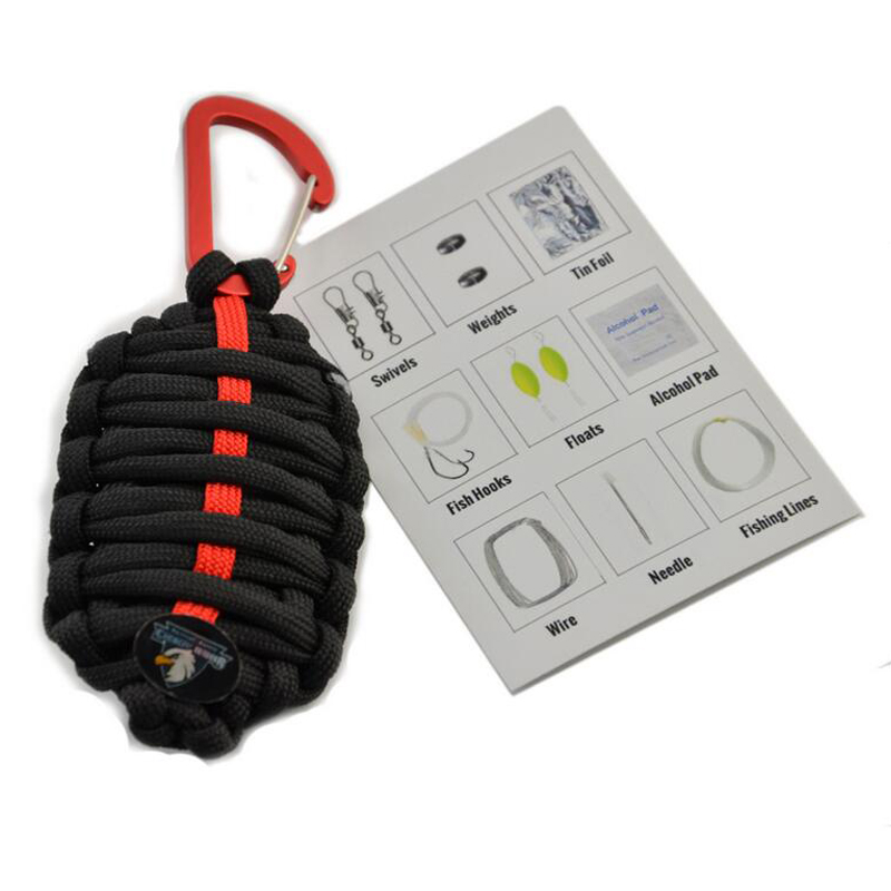 2016 most popular Key Chain Type Paracord Grenade as Survival Kit