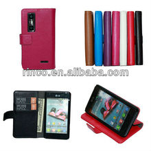 Wallet Leather Case for LG Optimus 3D MAX P725 P720