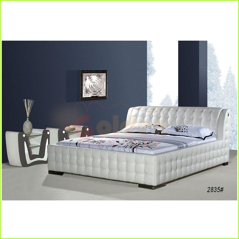 moderne blanc faux en cuir lit meubles indon siens literie id de produit 559295028 french. Black Bedroom Furniture Sets. Home Design Ideas