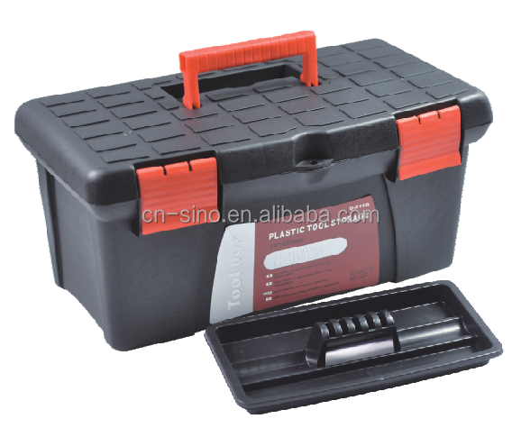 cheap plastic storage tool box with inner tray