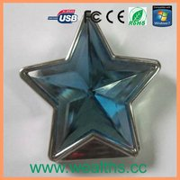 novelty five-pointed star usb flash drive
