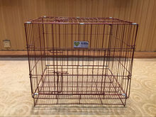 Folding metal wire pink pet dog cage/crate/house