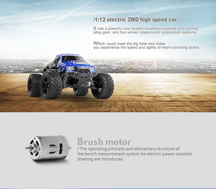WLTOYS A323 2.4G 1:12 Scale High Speed 30KM/H 2WD RC Off-road Vehicle
