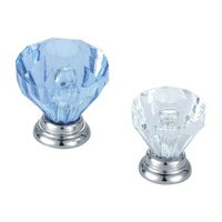 Romantic diamond shape crystal handle and knob for drawer/cabinet/door