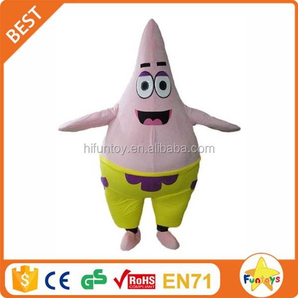 Funtoys CE Cartoon Spongebob Big Star Mascot Costume Adult