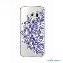 2017 Blank Sublimation Cell Mobilephone Accessory Back Cover Lady Tpu 3D Mandala Phone Case For Samsung S8
