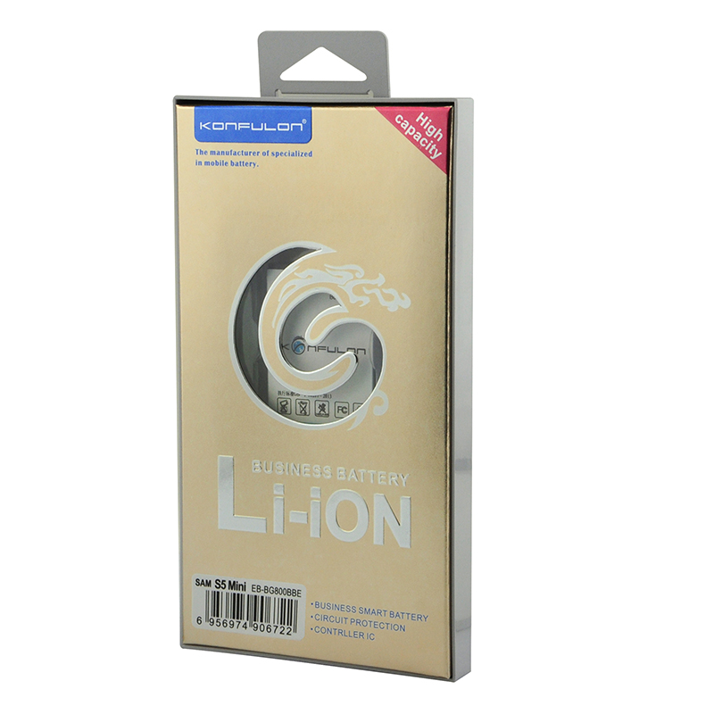 konfulon 2100mAh Rechargeable Battery for Samsung S5 MINI Mobile Phone Battery for Samsung S5mini