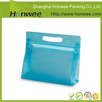 wholesale customized makeup gift toiletry ziplock pvc shopping bag