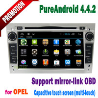 Capacitive screen 3g/wifi bluetooth mirror-link +hotspot+mp3/gps/dvd for opel vectra android 4.4 radio 2005 2006 2007 2008