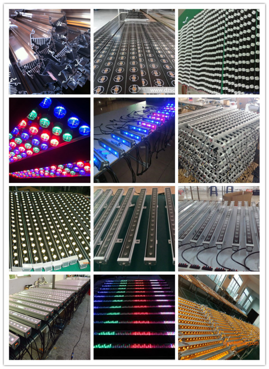 High Power 72w Waterproof IP65 RGB LED Wall Washer Light