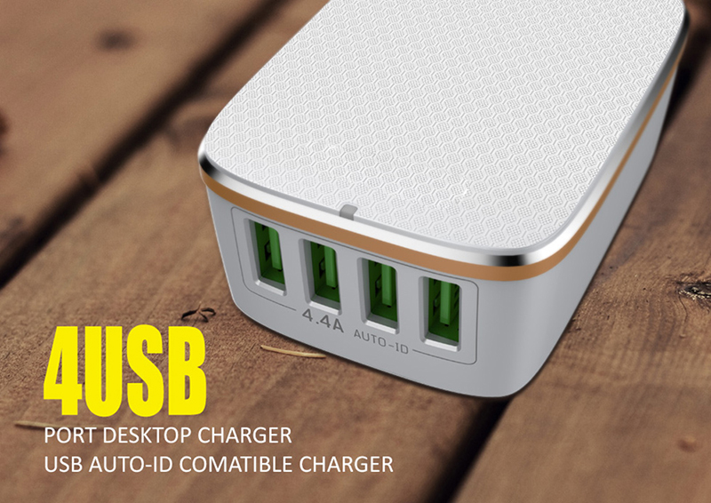 2018 best selling 4.4A quick charge 4 USB travel wall charger for EU market