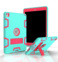 Hot seller Contrast color Robot Back Case For Apple ipad mini 1 2 3 Retina Accessories Stand Cover