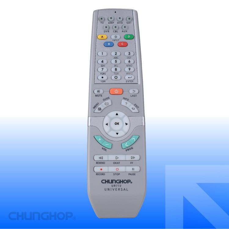 UR772 Universal Remote Control with operation 7 devices with 1 remote