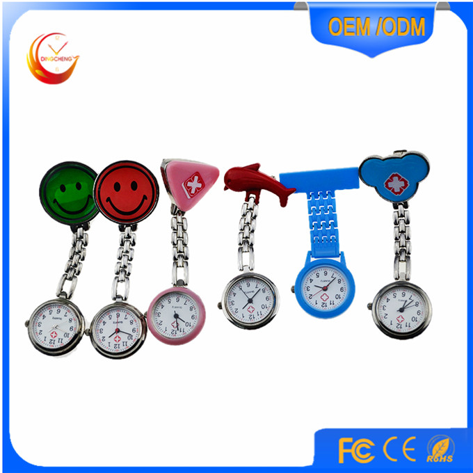 Fashion Clip Portable Promotion Watch Alloy Nurse Watches