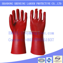 European standard Red PVC Rubber Latex Labour Gloves