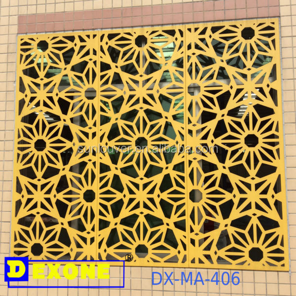 Cnc laser cut decorative metal sheet as building facade for Custom home builder selection sheet