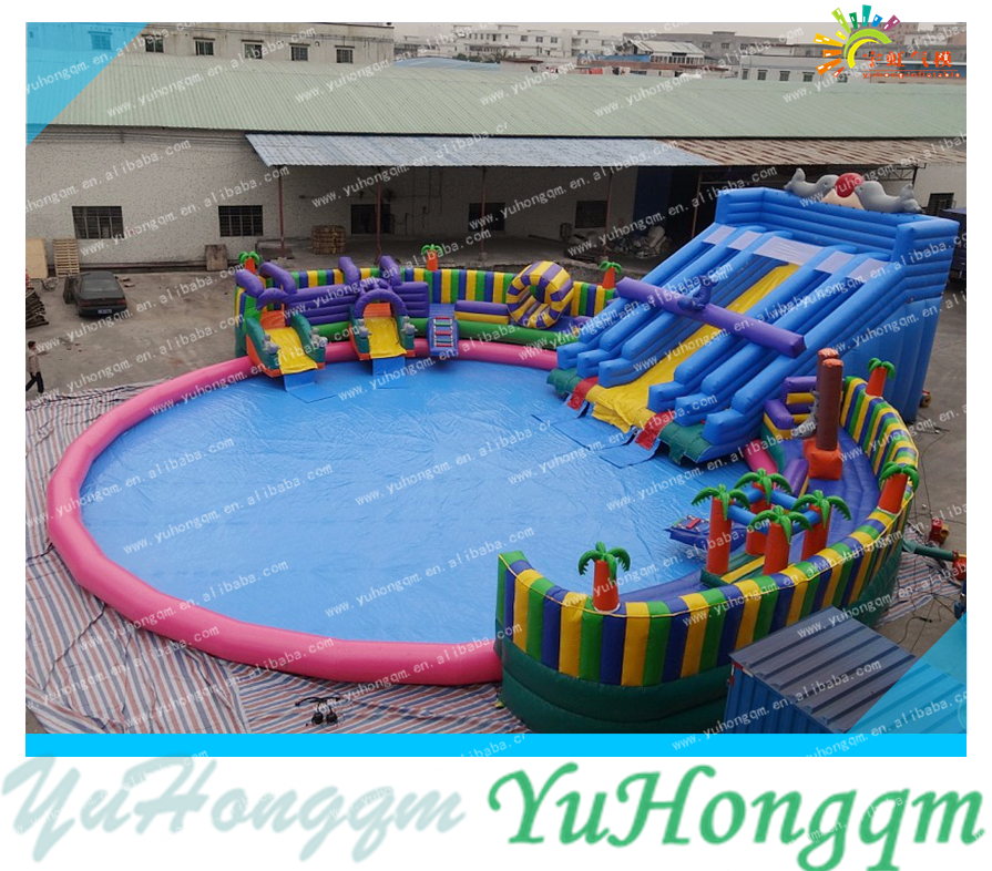 New style fashion durable inflatable water park slides for sale