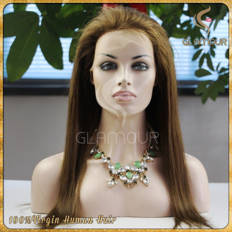 High-end remy human hair full lace wig real factory price silky straight virgin Russian hair wig